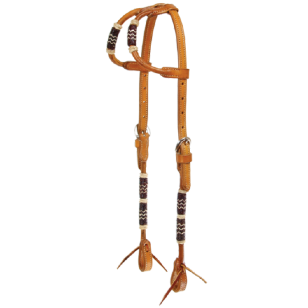 Braided Natural Rawhide Headstall