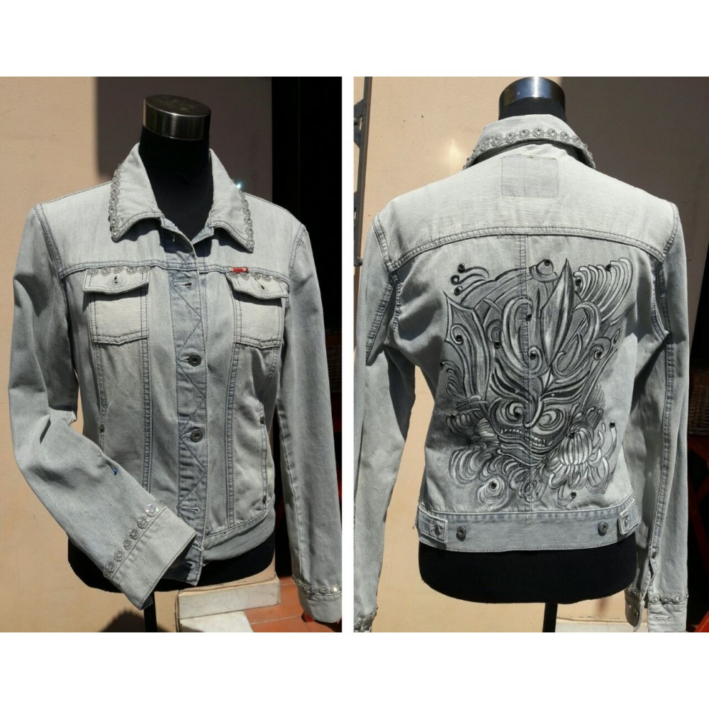 "Jeans Jacket ""Japan"" M/L by Skull Design"