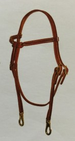 Knotted Browband Headstall w/Snap