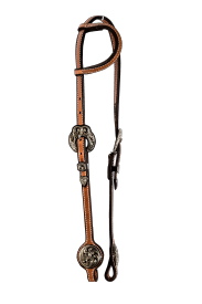 Black Silver Show Headstall