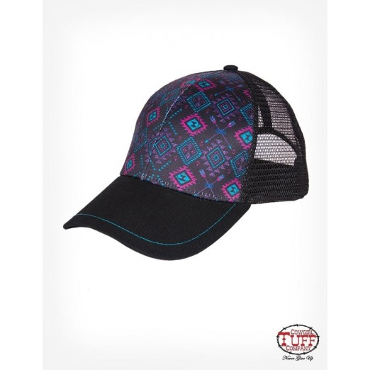 Black Aztec trucker cap