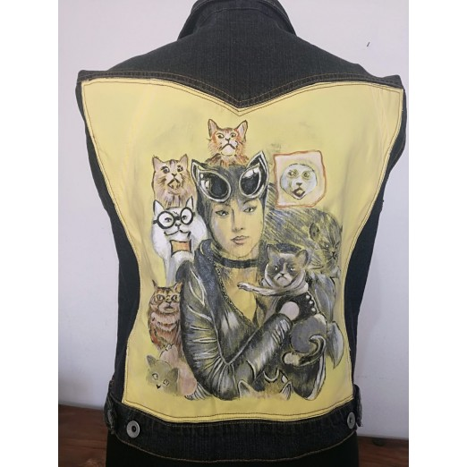"Gilet ""Cat"" S/M by Skull Design"