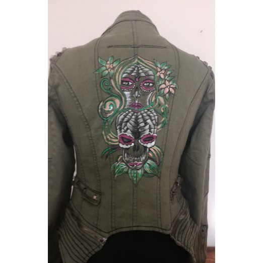 "Jeans Jacket ""Skull"" S by Skull Design"