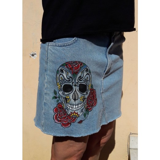 "Jeans Rock ""Roses"" M by Skull Design"