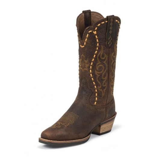 Justin Ladies Boot *Copper Kettle Buffalo*