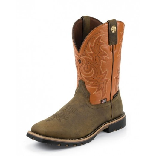 Justin Boots Mens Golden Oal Crazy Horse