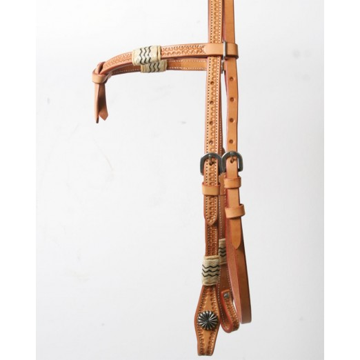 Knotted Headstall w/Rawhide