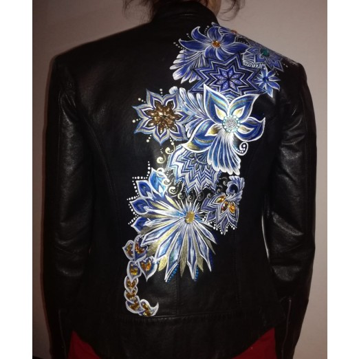 Leather Jacket S by Skull Design