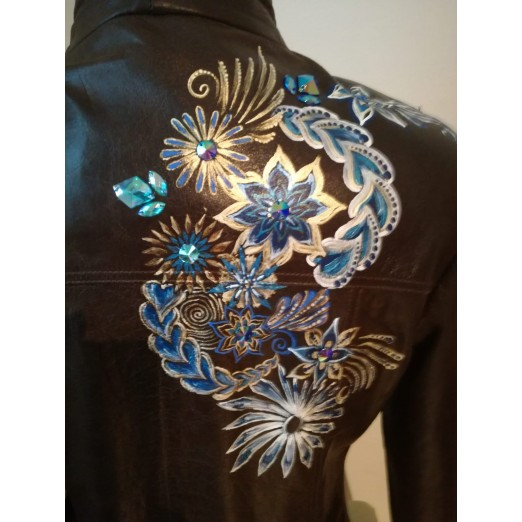 Leather Jacket M by Skull Design