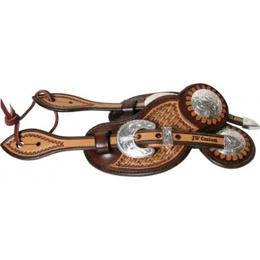 JW Custom Spur Straps Antique